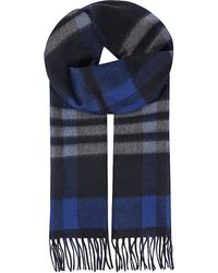 Sportmax | Blue Check Cashmere Scarf | Lyst