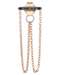 Kismet by Milka | Pink 'lumiere' Diamond Double Chain Drop Earring | Lyst
