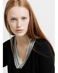 Violeta by Mango | Black Wool-blend Sweater | Lyst