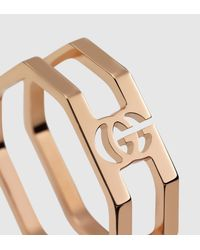 Gucci - Metallic Gold Running G Ring - Lyst