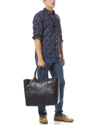Lotuff Leather - Blue Working Tote for Men - Lyst