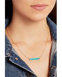 Jennifer Meyer | Blue 18-karat Gold, Turquoise And Diamond Necklace | Lyst