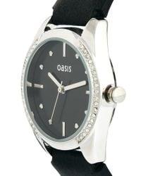 Oasis - Black Semi Stone Set Watch - Lyst
