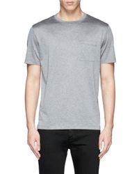 Valentino - Gray Reverse Print T-shirt for Men - Lyst
