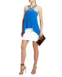 BCBGMAXAZRIA   White Simone Textured Power Skirt   Lyst