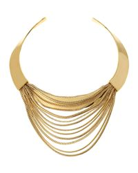 Diane von Furstenberg | Metallic Snake Chain Collar Necklace | Lyst