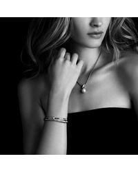 David Yurman - Metallic Crossover Bracelet With Diamonds - Lyst