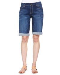 CJ by Cookie Johnson - Blue Honor Roll-up Bermuda Shorts - Lyst