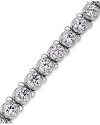 Macy's | Metallic Diamond Tennis Bracelet In 14k White Gold (8 Ct. T.w.) | Lyst