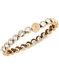 Michael Kors | Metallic Clear Crystal Bezel Set Tennis Bracelet | Lyst