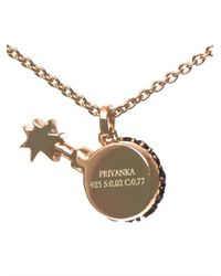 Aamaya By Priyanka | Metallic Bomb Rose Gold-Plated Necklace | Lyst