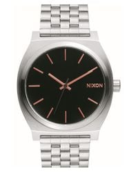 Nixon - Metallic 'time Teller' Bracelet Watch - Lyst