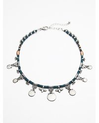 Free People | Blue Womens Rachel Beaded Collar | Lyst