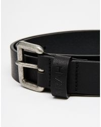 Farah | Black Greco Leather Belt for Men | Lyst