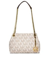 MICHAEL Michael Kors | Natural Patterned Satchel Bag | Lyst