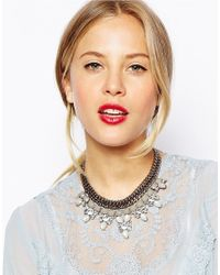 Oasis | Gray Marble Statement Collar Necklace | Lyst