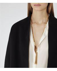 Reiss - Metallic Jaynie Tassel-detail Necklace - Lyst