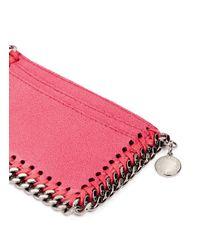 Stella McCartney - Pink 'falabella' Chain Border Card Holder - Lyst