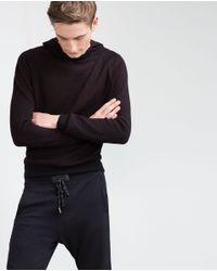 Zara | Blue Structured Sweater for Men | Lyst