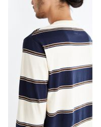 BDG | Blue '80s Stripe Long-sleeve Tee for Men | Lyst