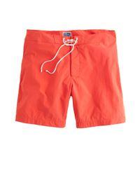 J.Crew | Orange 7 Solid Short Board Short for Men | Lyst