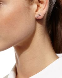 Borgioni - Metallic Diamond Baguette Climber Earrings - Lyst