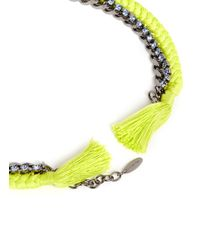 Joomi Lim | Yellow 'Rebel Romance' Cotton Braid Crystal Necklace | Lyst