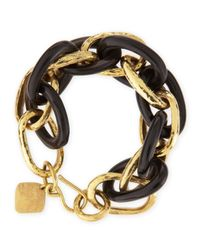 Ashley Pittman | Metallic Ndovu Dark Horn & Bronze Bracelet | Lyst