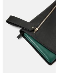 Violeta by Mango - Black Flap Clutch - Lyst