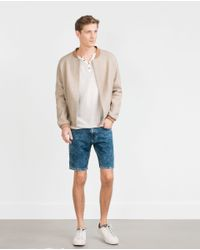 Zara | Blue Denim Shorts for Men | Lyst