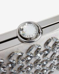 Ted Baker - Gray Embellished Hard Case Clutch Bag - Lyst