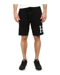 Huf | Black Classic H Fleece Short for Men | Lyst