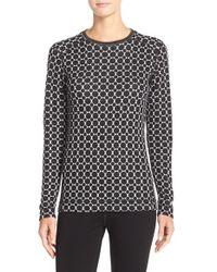 Smartwool - Black 'nts Mid 250' Patterned Merino Wool Top - Lyst