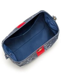 Tory Burch | Blue Printed Nylon Large Molded Cosmetic Case | Lyst