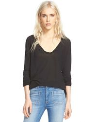 James Perse - Black High Gauge Long Sleeve Tee - Lyst