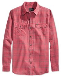Hurley | Red Pitfire Plaid Flannel Button-front Shirt for Men | Lyst
