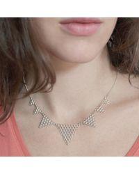 Agnes De Verneuil - Metallic Silver Necklace Jali - Lyst