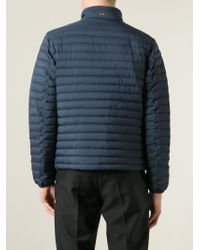 Herno | Blue Contrasting Trim Padded Jacket for Men | Lyst