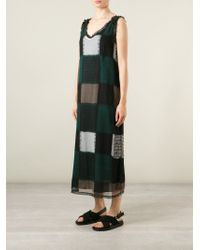 Marni - Green Checked Dress - Lyst