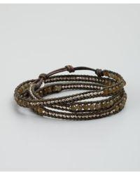 Chan Luu | Green Labradorite and Metal Beaded Leather Wrap Bracelet | Lyst