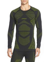 Spyder | Green 'captain' Compression Base Layer Top for Men | Lyst