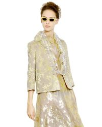 Rochas | Yellow Floral Embroidered Duchesse Jacket | Lyst