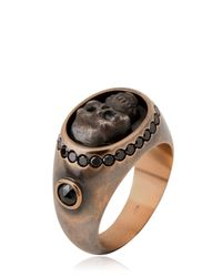 Bonato Milano 1960 | Pink Skull Chevalier Ring for Men | Lyst