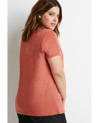 Forever 21 | Orange Classic Heathered Tee | Lyst