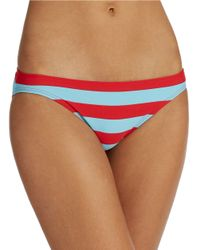 DKNY | Blue Striped Triangle Bikini Bralet Swim Top | Lyst