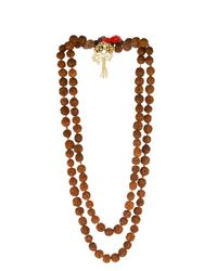Zeus + Dione | Red Rudraksha Bead Gold-Plated Necklace | Lyst