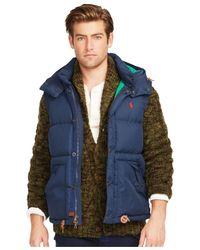 Polo Ralph Lauren | Blue Elmwood Down-feathers Vest for Men | Lyst