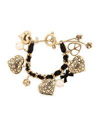 Betsey Johnson - Metallic Toggle Leopard Bracelet - Lyst