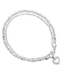 Astley Clarke | Pink Silver Heart Friendship Bracelet With Diamond And Rose Quartz | Lyst
