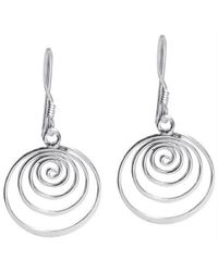 Aeravida | Metallic Spiral Comets Dangle .925 Sterling Silver Earrings | Lyst